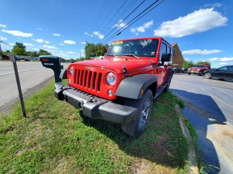 2015 Jeep Wrangler Unlimited for sale at Mancuso Country Auto in Batavia NY