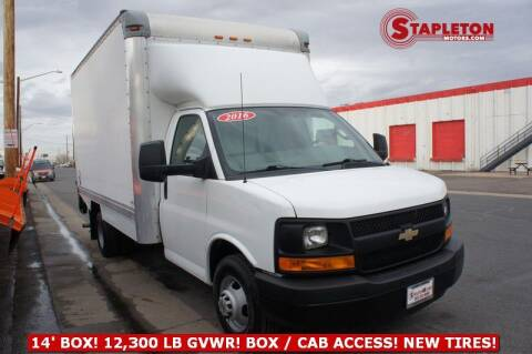 2016 Chevrolet Express Cutaway for sale at STAPLETON MOTORS in Commerce City CO