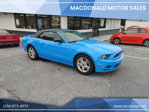 2014 Ford Mustang for sale at MacDonald Motor Sales in High Point NC