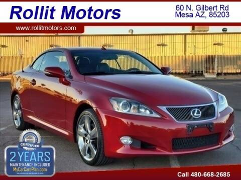 2011 Lexus IS 250C for sale at Rollit Motors in Mesa AZ