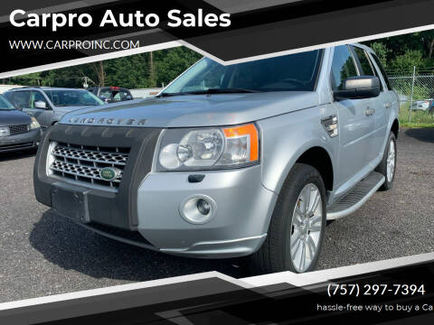 2010 Land Rover LR2 for sale at Carpro Auto Sales in Chesapeake VA