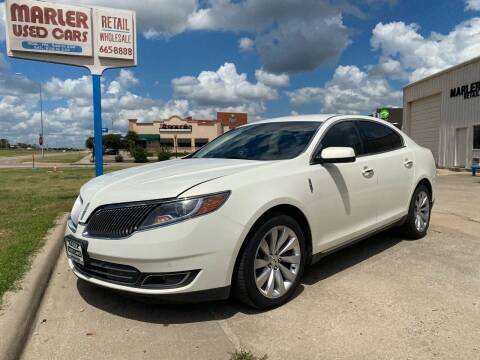 2013 Lincoln MKS for sale at MARLER USED CARS in Gainesville TX