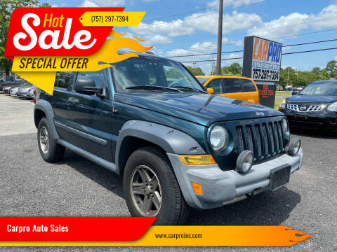 2005 Jeep Liberty for sale at Carpro Auto Sales in Chesapeake VA
