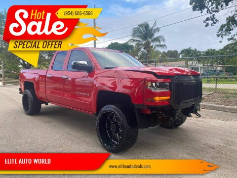 2017 Chevrolet Silverado 1500 for sale at ELITE AUTO WORLD in Fort Lauderdale FL