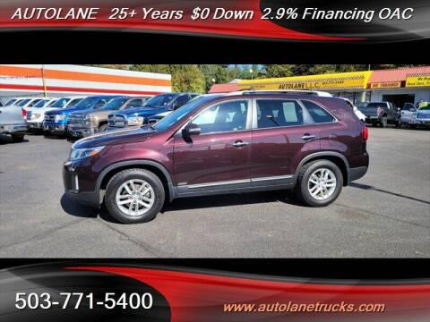 2014 Kia Sorento for sale at Auto Lane in Portland OR