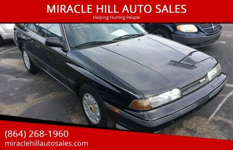 1988 Mazda MX-6 for sale at MIRACLE HILL AUTO SALES in Greenville SC