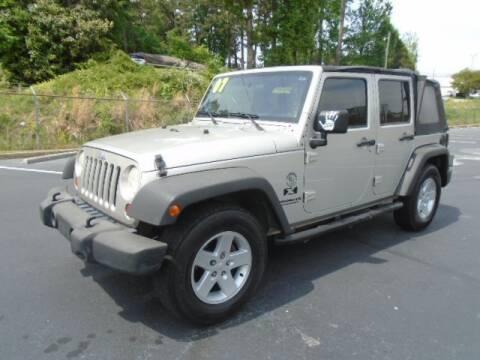 2007 Jeep Wrangler Unlimited for sale at Atlanta Auto Max in Norcross GA