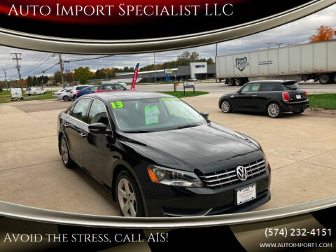 2013 Volkswagen Passat for sale at Auto Import Specialist LLC in South Bend IN