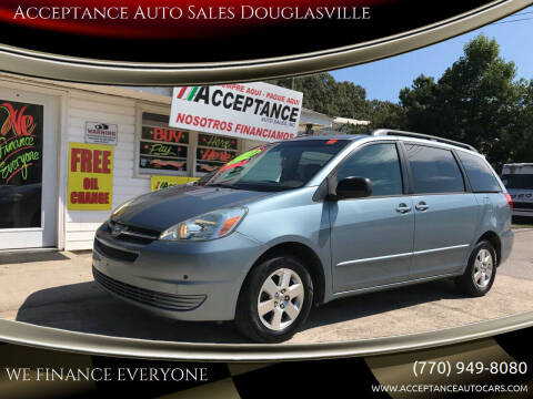 2005 Toyota Sienna for sale at Acceptance Auto Sales Douglasville in Douglasville GA