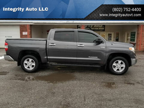 2015 Toyota Tundra for sale at Integrity Auto LLC - Integrity Auto 2.0 in St. Albans VT