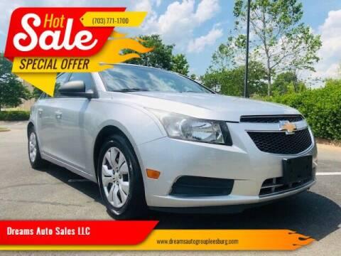 2013 Chevrolet Cruze for sale at Dreams Auto Sales LLC in Leesburg VA