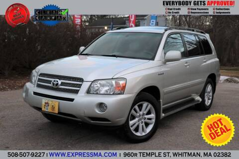 2007 Toyota Highlander Hybrid for sale at Auto Sales Express in Whitman MA