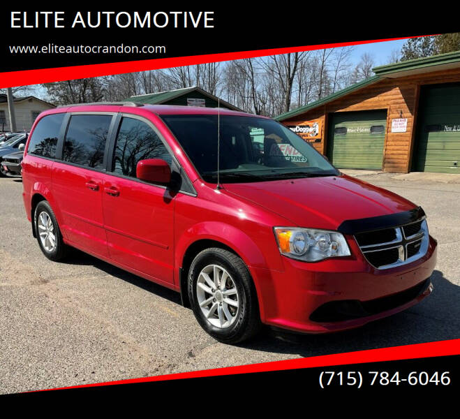 2013 Dodge Grand Caravan for sale at ELITE AUTOMOTIVE in Crandon WI