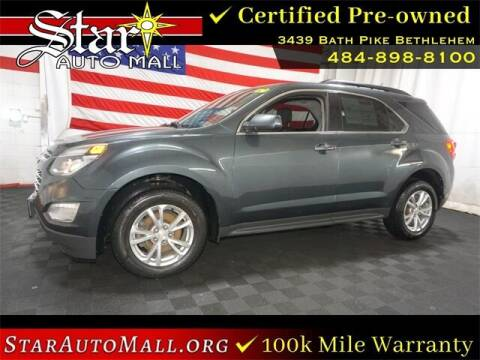 2017 Chevrolet Equinox for sale at STAR AUTO MALL 512 in Bethlehem PA