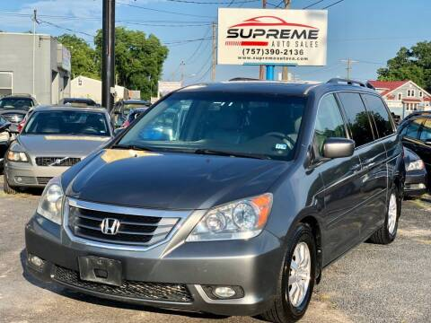 2010 Honda Odyssey for sale at Supreme Auto Sales in Chesapeake VA