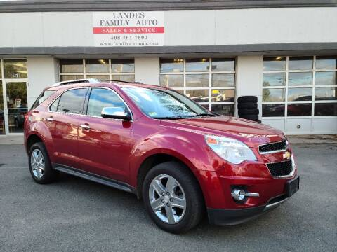 2014 Chevrolet Equinox for sale at Landes Family Auto Sales in Attleboro MA