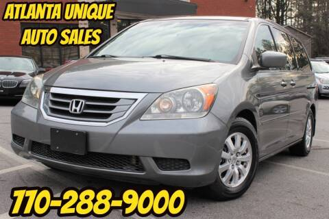 2009 Honda Odyssey for sale at Atlanta Unique Auto Sales in Norcross GA