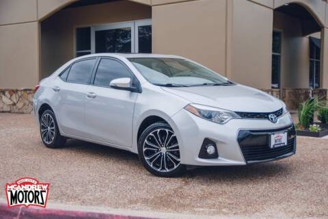 2014 Toyota Corolla for sale at Mcandrew Motors in Arlington TX