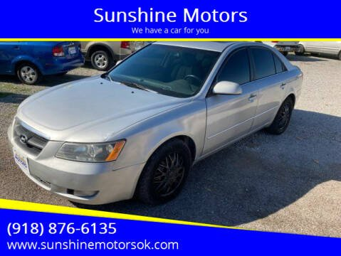 2009 Hyundai Sonata for sale at Sunshine Motors in Bartlesville OK