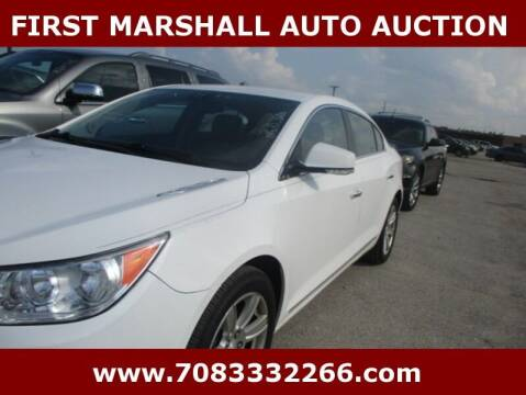 2011 Buick LaCrosse for sale at First Marshall Auto Auction in Harvey IL