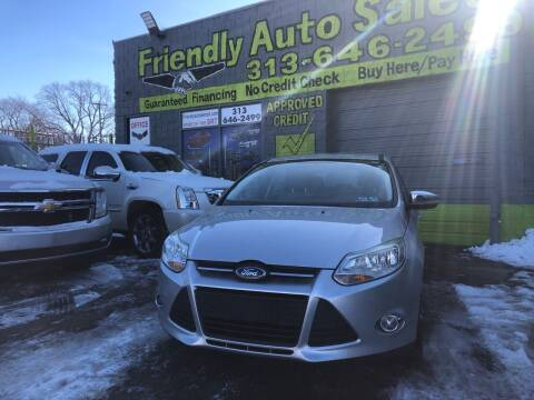 2012 Ford Focus for sale at Friendly Auto Sales in Detroit MI