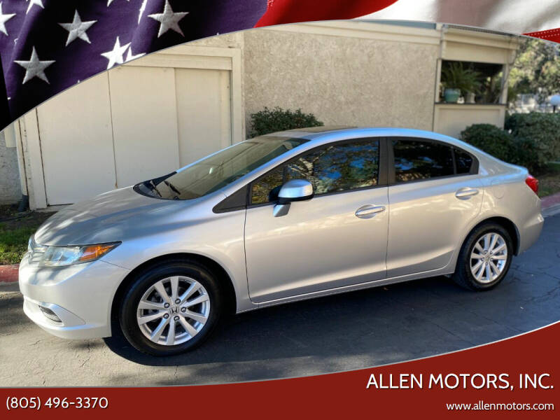 2012 Honda Civic for sale at Allen Motors, Inc. in Thousand Oaks CA
