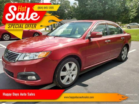 2010 Kia Optima for sale at Happy Days Auto Sales in Piedmont SC