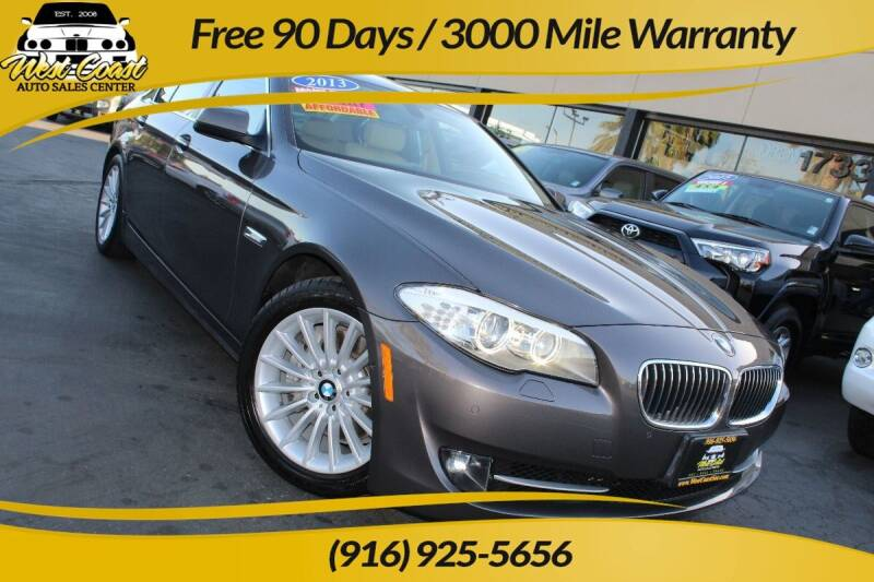 2013 BMW 5 Series for sale at West Coast Auto Sales Center in Sacramento CA