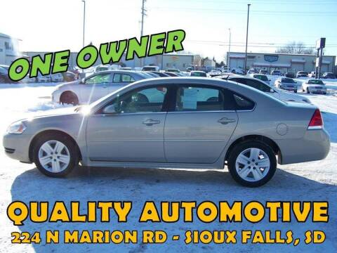 2010 Chevrolet Impala for sale at Quality Automotive in Sioux Falls SD