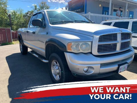 2003 Dodge Ram Pickup 2500 for sale at City Center Cars and Trucks in Roseburg OR