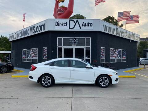 2018 Honda Civic for sale at Direct Auto in D'Iberville MS