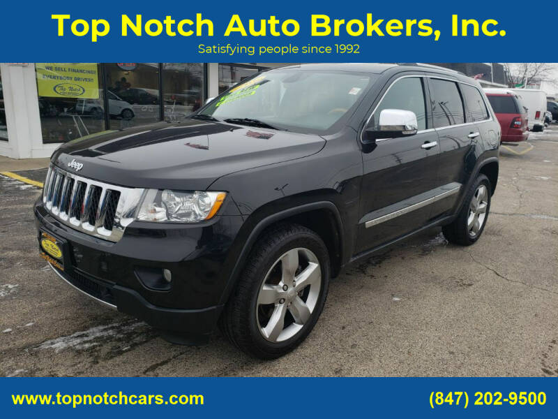 2012 Jeep Grand Cherokee for sale at Top Notch Auto Brokers, Inc. in Palatine IL