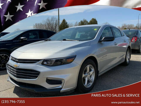 2017 Chevrolet Malibu for sale at Paris Auto Sales & Service in Big Rapids MI