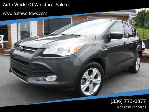 2015 Ford Escape for sale at Auto World Of Winston - Salem in Winston Salem NC