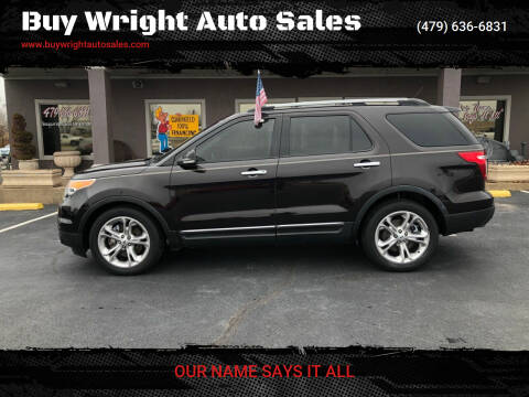 2014 Ford Explorer for sale at Buy Wright Auto Sales in Rogers AR