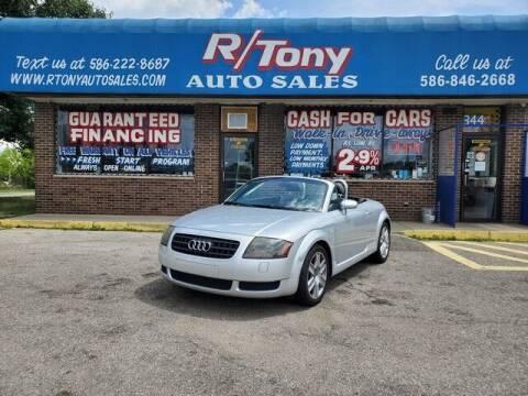 2004 Audi TT for sale at R Tony Auto Sales in Clinton Township MI