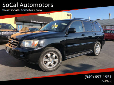 2005 Toyota Highlander for sale at SoCal Automotors in Costa Mesa CA