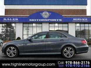 2016 Mercedes-Benz E-Class for sale at Highline Group Motorsports in Lowell MA