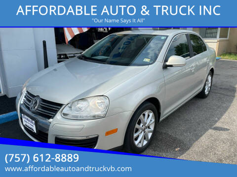 2010 Volkswagen Jetta for sale at AFFORDABLE AUTO & TRUCK INC in Virginia Beach VA