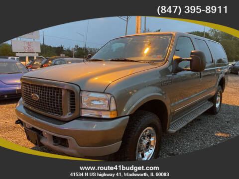 2003 Ford Excursion for sale at Route 41 Budget Auto in Wadsworth IL