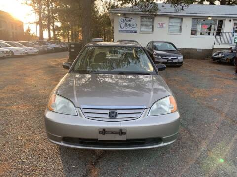 2003 Honda Civic for sale at MEEK MOTORS in North Chesterfield VA