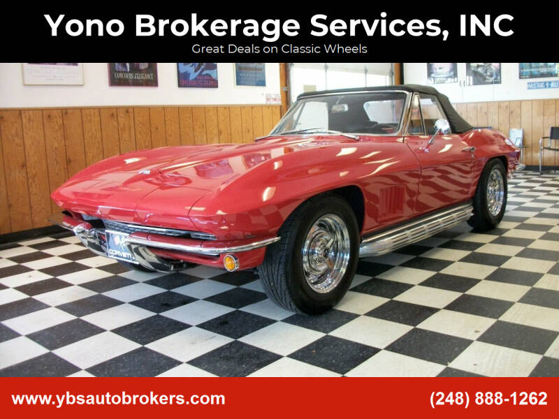 1967 Chevrolet Corvette for sale at Yono Brokerage Services, INC in Farmington MI