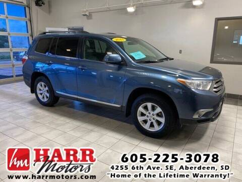 2013 Toyota Highlander for sale at Harr Motors Bargain Center in Aberdeen SD