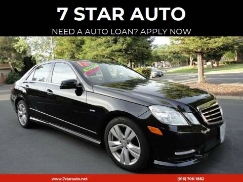 2012 Mercedes-Benz E-Class for sale at 7 STAR AUTO in Sacramento CA