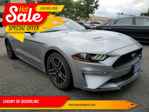 2020 Ford Mustang for sale at LUXURY OF QUEENS,INC in Long Island City NY