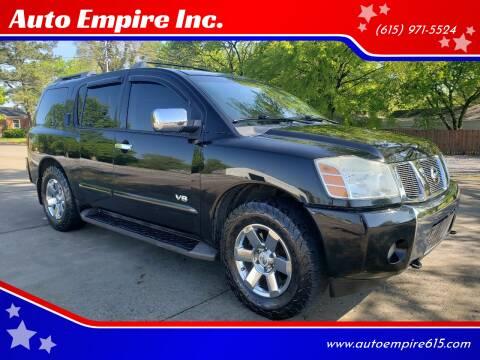 2007 Nissan Armada for sale at Auto Empire Inc. in Murfreesboro TN