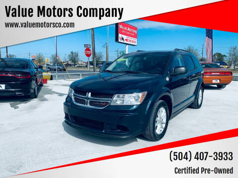 2015 Dodge Journey for sale at Value Motors Company in Marrero LA