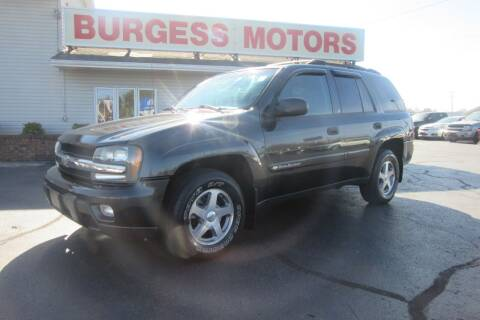 2003 Chevrolet TrailBlazer for sale at Burgess Motors Inc in Michigan City IN