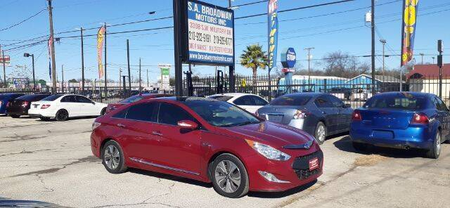 2015 Hyundai Sonata Hybrid for sale at S.A. BROADWAY MOTORS INC in San Antonio TX