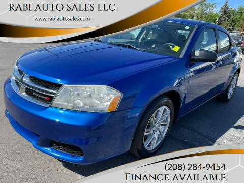 2012 Dodge Avenger for sale at RABI AUTO SALES LLC in Garden City ID